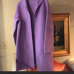 Size M Eileen Fisher wool blend long coat